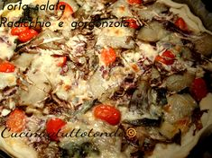 Torta salata veloce radicchio e gorgonzola