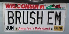 Wisconsin dental license plate