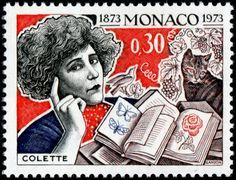"""Mónaco 1973 -  Colette, fue una novelista, periodista, guionista, libretista y artista de revistas y cabaré francesa. Adquirió celebridad internacional por su novela """"Gigi"""", llevada al cine por Vincente Minnelli en 1958 y, siendo miembro de la Academia Goncourt desde 1945, la llegó a presidir entre 1949 y 1954 y fue condecorada con la Legión de Honor."""