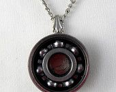 Roller derby skate bearing necklace - MagiciansAssistant on Etsy $20