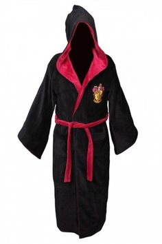 Harry Potter Gryffindor Cotton Hooded Bathrobe  an official licensed  product! 070191f15