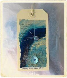 CAROLYN SAXBY MIXED MEDIA TEXTILE ART: Art Tags