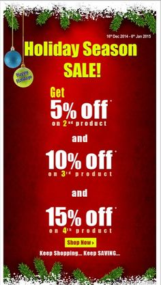 International Drug Mart Celebrates the Season.When a customer buys FOUR or more products, a 15% discount is applied.
