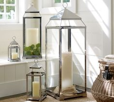 Shop malta lantern silver from Pottery Barn. Our furniture, home decor and accessories collections feature malta lantern silver in quality materials and classic styles. Garden Lanterns, Lanterns Decor, Candle Lanterns, Light Decorations, Pottery Barn Lanterns, Floor Lanterns, Hurricane Candle, Diwali Decorations, Glass Candle