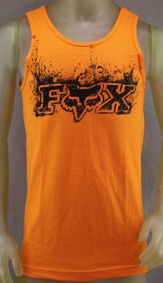 Fox Racing orange tank top with black logo