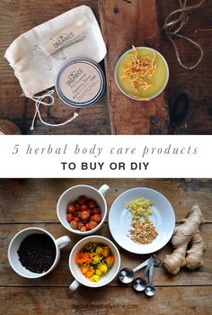 5 Herbal Body Care Products to Buy or DIY - using herbs and essential oils!