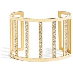 GUESS by Marciano Lizeth Cuff Bracelet ($58) ❤ liked on Polyvore featuring jewelry, bracelets, gold, hinged cuff bracelet, gold bangles, gold tone jewelry, yellow gold bangle and cuff bracelet