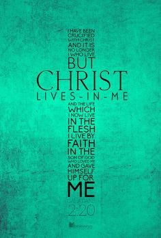"faithprayers: "" Christ lives in you. """