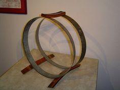 Barrel Hoop Firewood Rack