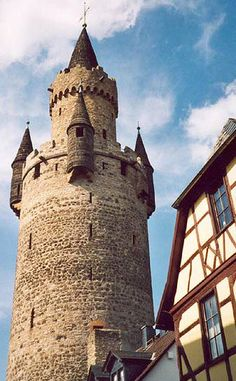 Friedberg Castle, Hessen,Deutschland. We called this Rapunzel's Castle - it was visible from the tac site I worked on while stationed in GE.  Little did I know at the time, it was also the town my future husband worked in