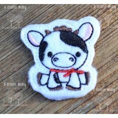 Cow Feltie Embroidery Design
