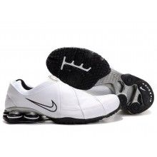 Nike Shox R4 2 Leater white black