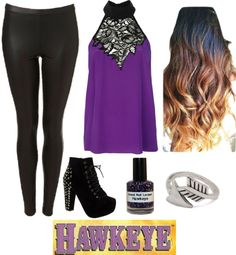 """""""Hawkeye inspired outfit"""" by bethanie-lee ❤ liked on Polyvore"""