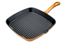 Cook's Collection Cast Iron Griddle Pan Mustard