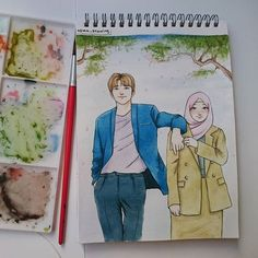 Super Wedding Couple Cartoon Muslim Ideas couple animasiA scarf is the central bit inside clothes Couple Sketch, Couple Drawings, Art Drawings, Wedding Couple Cartoon, Hijab Drawing, Islamic Cartoon, Anime Muslim, Hijab Cartoon, Muslim Couples