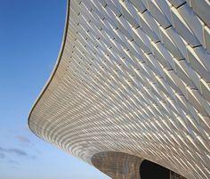 New striking ultramodern MAAT in #Lisbon designed by British architect Amanda Levete  #curves #pattern