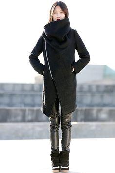 Winterjacken für Frauen braunen Wollmantel-CF042 von Luyahui auf DaWanda.com