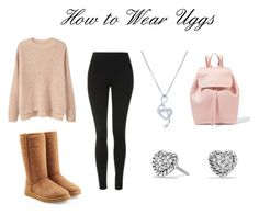 How to Wear Uggs by hahamed on Polyvore featuring MANGO, Topshop, UGG, Mansur Gavriel, David Yurman and BERRICLE