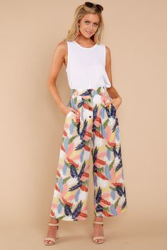 Trendy Tan Print Pants - Cute Print Pants - Pants - $48.00 – Red Dress Boutique