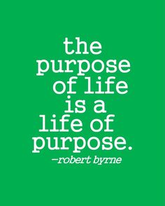 I believe that purpose is not something that's handed to you when you're born. I think it's something that you actually have to work for, because it's something that's extremely valuable. In other words, it's not a birth-right, it's a reward for hard work.