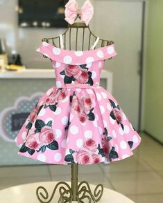 i love this cute dress for abby - Baby Dress have you noticed that polka African Dresses For Kids, Dresses Kids Girl, Kids Outfits, Kids Frocks Design, Baby Frocks Designs, Little Girl Fashion, Kids Fashion, Kids Gown, Baby Dress Patterns