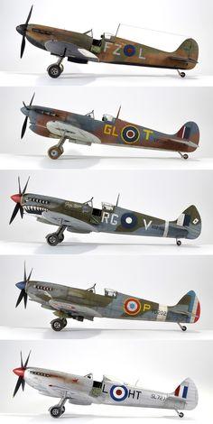Ww2 Fighter Planes, Ww2 Planes, Fighter Aircraft, Fighter Jets, Military Jets, Military Aircraft, Mercedes Stern, Model Hobbies, Supermarine Spitfire