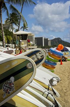 Beach Toys and Surfboards by shutterdo on Flickr.  #WaikikiBeach: Tons of Fun in the Sun!