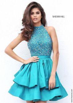 Sherri Hill 50711 Short Halter Top Party Dress