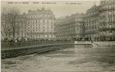 #Pont #Saint #Louis #1910 #Crues #Paris #Geneanet #Monuments