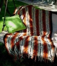 Southwest Native American Pattern Crochet Afghan Blanket