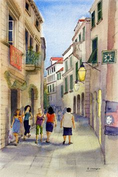 Dubrovnik evening  fine art print by RobertColdwellArt on Etsy