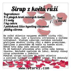 Sirup z květů růží Food, Syrup, Meal, Eten, Meals