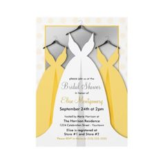 Three Gowns Bridal Shower Invitations