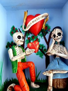 #dayofthedead #novios #lovers #peru #folkart #mexicana #collectable