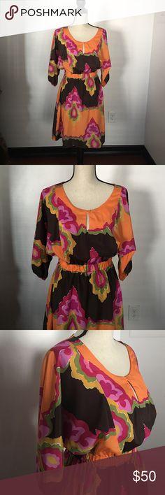 Dress Colorful Dress sangria Dresses Midi