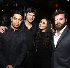 """Celeb photos of the year Wilmer Valderrama, Ashton Kutcher, Mila Kunis and Danny Masterson are seen at a special screening of the Netflix original series """"The Ranch"""" at ArcLight Cinemas in Hollywood on March That 70s Show Cast, It Cast, Hollywood Celebrities, In Hollywood, The Ranch Netflix, Thats 70 Show, Wilmer Valderrama, Ashton Kutcher, Gisele Bundchen"""