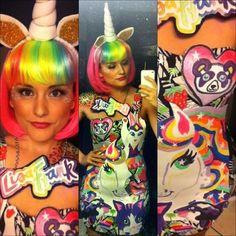 Lisa Frank Halloween costume!!! I totally forgot about how obsessed girls used to be with LF!