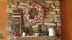 Love the rustic simple feel of this mantel
