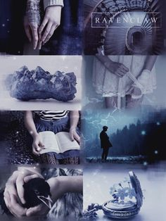Harry Potter, Hogwarts Founding House aesthetic: pale blue Ravenclaw aesthetic picspam
