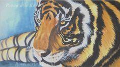 Tiger von ·.¸¸.·´´¯`··._.·☆  Galerie Rosemarie Kerschl  ☆ ·.¸¸.·´´¯`··._.· auf DaWanda.com