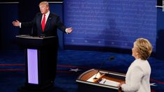 Donald Trump vs. Hillary Clinton III: The most memorable lines / Thurs / Republican presidential nominee Donald Trump (L) speaks as Democratic presidential nominee former Secretary of State Hillary Clinton looks on during the third U.S. presidential debate at the Thomas & Mack Center on October 19, 2016 in Las Vegas, Nevada.