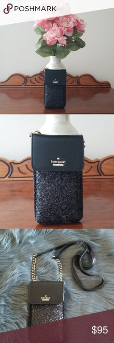2541ecc1715b 💥Sale💥NWT Kate Spade Glitter Crossbody Need a fabulous North/South  crossbody for your iphone and credit cards? Then the Laurel Way Crossbody  in glitter ...