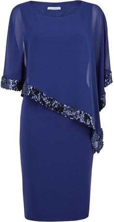 Shop for Crepe dress and sequin chiffon cape by Gina Bacconi at ShopStyle. Now f… Shop for Crepe dress and sequin chiffon cape by Gina Bacconi at ShopStyle. Now for Sold Out. Muslim Fashion, Modest Fashion, Fashion Dresses, Crepe Dress, Chiffon Dress, Lace Chiffon, Dress Lace, Daily Dress Me, Elegant Dresses
