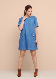 Medium denim dress - Plus sizes Size 16 Fashion, My Shopping List, Mango, Curvy, Cold Shoulder Dress, Plus Size, Shirt Dress, Clothes For Women, Denim