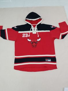 a2e39df34 Bulls  23 Michael Jordan Red Sawyer Hooded Sweatshirt NBA Hoodie  Bulls   ChicagoBulls  Jordan  Jordan23