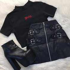 autumn date outfit Teen Fashion Outfits, Edgy Outfits, Korean Outfits, Retro Outfits, Cute Casual Outfits, Grunge Outfits, Fall Outfits, Mode Emo, Mode Rockabilly