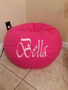 Personalized Bean Bag Filled by MMsHandmade on Etsy Hot Pink Furniture, Bean Bag Furniture, Bean Bag Cover Only, Bean Bag Covers, Pink Bean Bag, Bean Bag Filling, Color Splash, Bean Bag Chair, Room Ideas