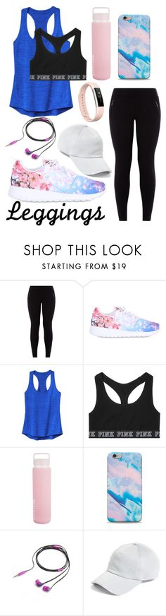 """#GETFIT"" by evelyngrace16 ❤ liked on Polyvore featuring New Look, NIKE, Athleta, Victoria's Secret, Sunnylife, Nicole Miller, rag & bone, Fitbit, Leggings and WardrobeStaples"