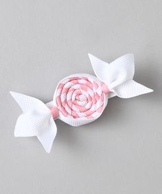 Bubbly Bows Pink Candy Clip