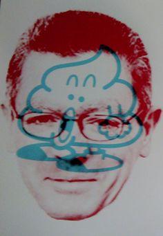 Rojo: Alberto Ruiz Gallardón Azul: excremento con patas http://rociocomunica.wordpress.com/2013/11/13/politica-y-sociedad-en-2-colores/